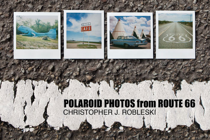 Polaroid Photos from Route 66 Map